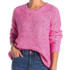 Elodie Crew Neck Oversized Pink Sweater Size M